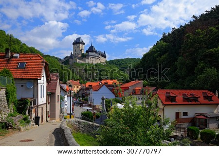 Royal Castle Karlstejn. Central Bohemia, Karlstejn village, Czec Stock photo © Kirill_M