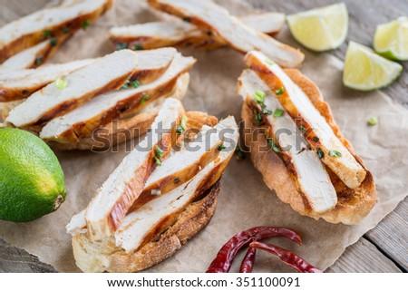 filete · pimienta · sándwich · papa · placa - foto stock © monkey_business