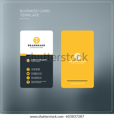 creative business card design with flat yellow black and white c stock photo © sarts