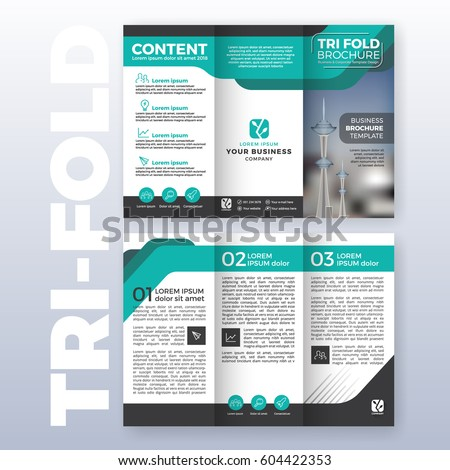 business trifold brochure leaflet design in size A4 for print Stock photo © SArts