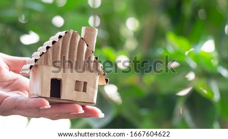 toy house from paper on the table real estate business concept photo closeup Stock photo © denisgo