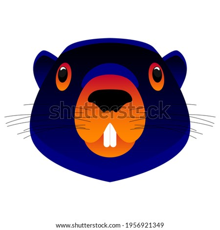 Marmot portrait isolated. Wild Rodent head. Illustration for Gro Stock photo © MaryValery