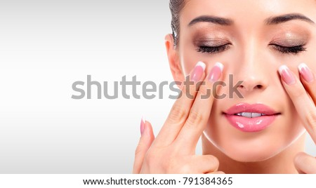 Güzel kadın yüz gri bo kız Stok fotoğraf © Nobilior