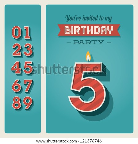 3 number and Candles for birthday. three figure for holiday cart Stock photo © MaryValery