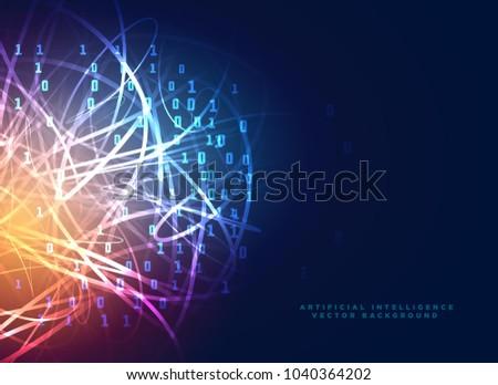 Digitális technológia terv absztrakt vonalak bináris bináris kód Stock fotó © SArts