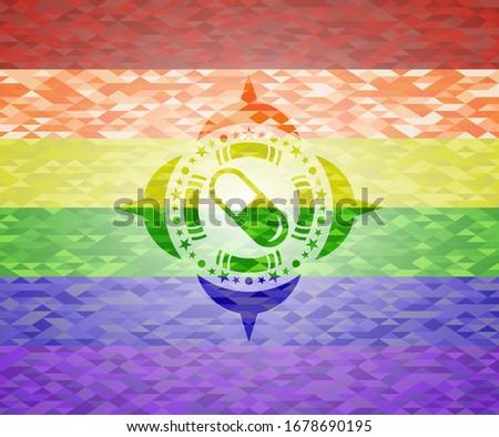 Gej pigułki farmaceutyczny kapsułka banderą wektora Zdjęcia stock © popaukropa