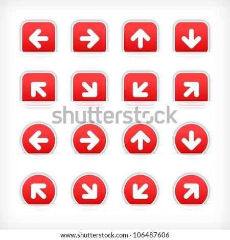 Klikken pijl vector web element Stockfoto © rizwanali3d