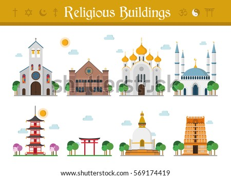 мечети набор религиозных здании мусульманских Сток-фото © popaukropa