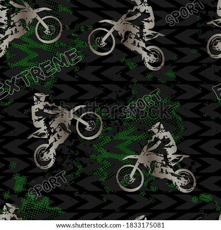 エンジン 自転車 パターン シームレス モータ オートバイ ストックフォト © popaukropa