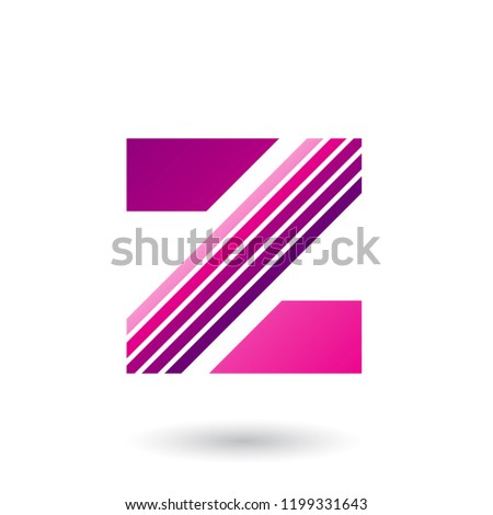 Magenta Letter Z with Thick Diagonal Stripes Vector Illustration Stock photo © cidepix