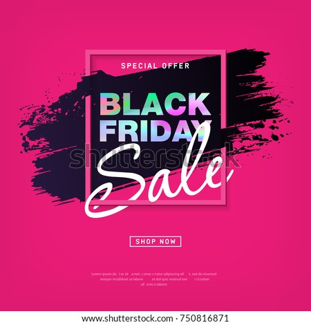 black friday sale grunge poster pink special offer text banner with grunge white ink drops isolated stock photo © iaroslava
