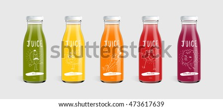 Bottle and glass of fresh organic tomato juice with fresh raw tomatoes in box on stone kitchen backg stock photo © DenisMArt