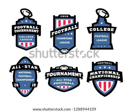 főiskola · rögbi · amerikai · futball · csapat · jelvények - stock fotó © jeksongraphics