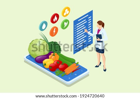 Isometric flat vector concept of online, expert, virtual business assistant. Stock photo © TarikVision