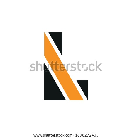 Black and Orange Glossy Curvy Embossed Letter A Vector Illustrat Stock photo © cidepix
