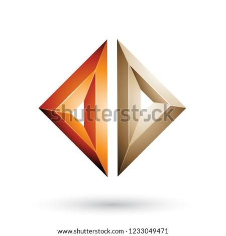 orange and beige frame like embossed diamond shape vector illust stock photo © cidepix