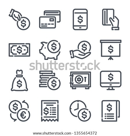 Piggy Bank Vector. Coins, Bills. Deposit Icon, Save Money. Business Investing Sign. Isolated Flat Ca Stock photo © pikepicture