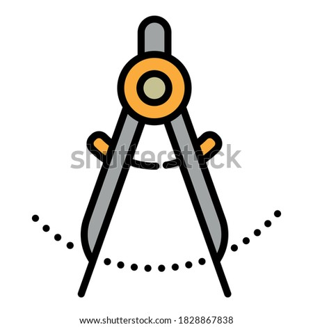 Compass on White Background, Modern Industry Technology Concept Stock photo © make