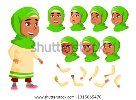 Arab muszlim lány gyermek gyerek tini Stock fotó © pikepicture