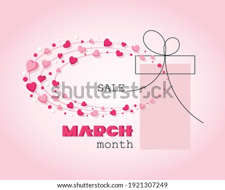 Womens Day Sale design with Beautiful Colorful Flower on Pink Background. Vector Floral Illustration Stock photo © articular