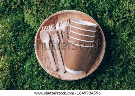környezetbarát · gyorsételek · sültkrumpli · terv · doboz · edény - stock fotó © furmanphoto