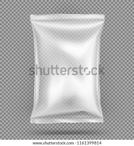 Plastic Biscuit Vector. Transparent Cookie Bar Dessert Wrap. Empty Product Polyethylene Mock Up Temp Stock photo © pikepicture