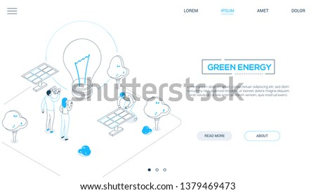 renewable energy   modern colorful isometric vector web banner stock photo © decorwithme
