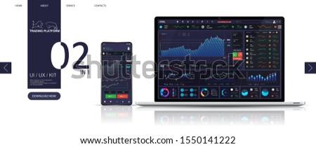 Kereskedés vágány interfész infografika elemek gyűjtemény Stock fotó © ConceptCafe