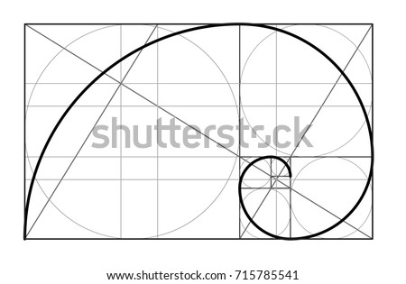 minimalistic style design golden ratio geometric shapes circles in golden proportion futuristic stock photo © olehsvetiukha