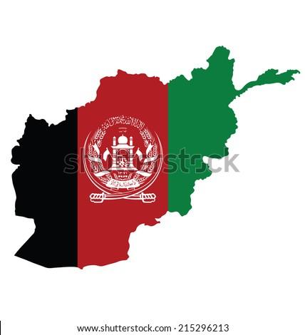 Zászló térkép Afganisztán izolált fehér absztrakt Stock fotó © kyryloff