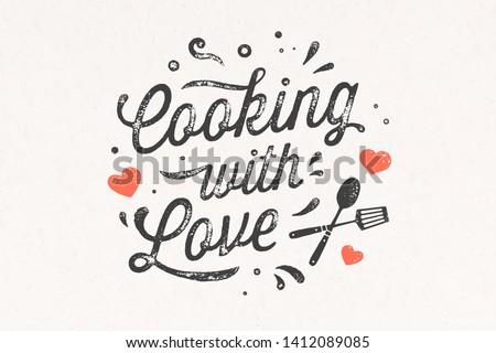 Cottura amore cucina poster muro Foto d'archivio © FoxysGraphic