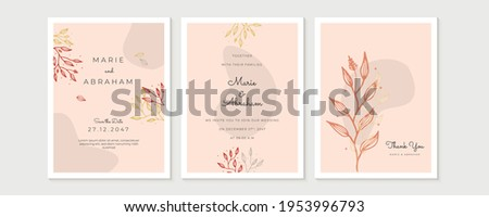 awesome wedding invitation card with flower flourish decoration Stock photo © SArts