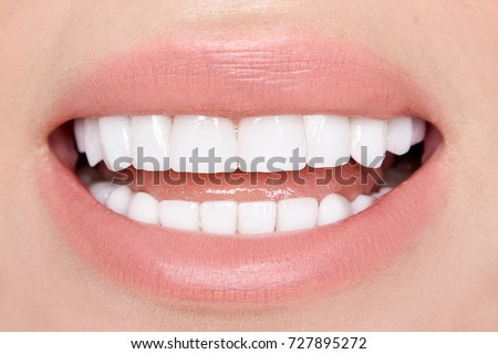 Perfect Lips. Sexy girl mouth close up. Beauty young woman smile Stock photo © serdechny