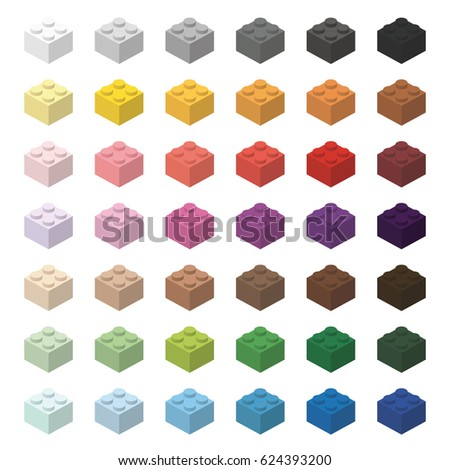 Children brick toy simple color spectrum bricks 2x2 high, isolated on white background  Stock photo © ukasz_hampel