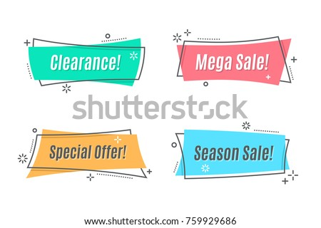 discount offer price linear sticker or label symbol for advertising campaign in retail sale promo stock photo © kyryloff