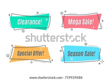 Indirim teklif fiyat doğrusal etiket etiket Stok fotoğraf © kyryloff