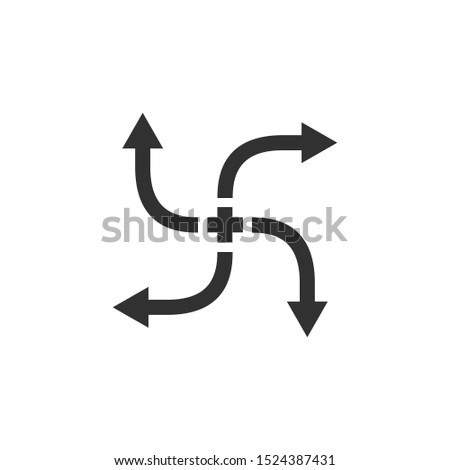 Kereszt nyilak négy irányok stock izolált Stock fotó © kyryloff