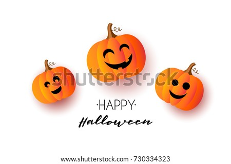 Glow Halloween Greeting Card with Witch Pumpkin, Bat, Spider, Mo Stock photo © lissantee