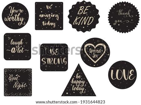 szeretet · kifejezés · sötét · dizájn · elem · poszter · kártya - stock fotó © masay256