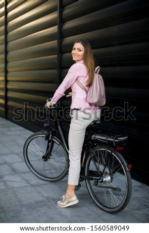 Jeune femme modernes ville électriques propre durable Photo stock © boggy