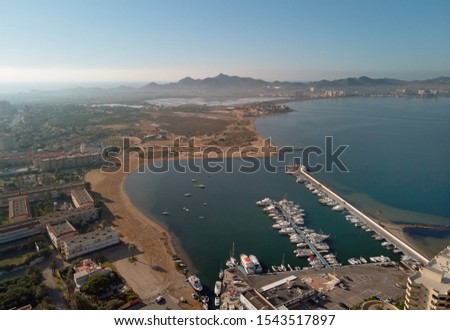 Aerial photography drone point of view region Murcia, countrysid Stock photo © amok