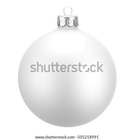 Silver christmas balls isolated on white background. Photorealistic high quality vector set of chris Stock photo © ukasz_hampel
