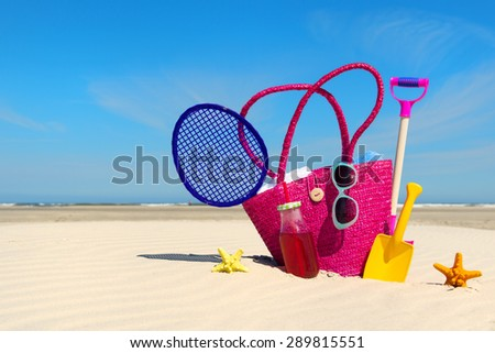 Stock photo: Summer vacation with the whole family on the sea coast in the Marina with yachts