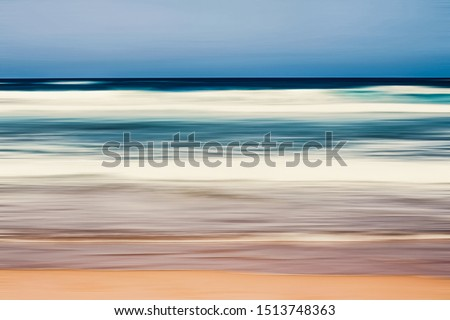 Abstract sea background, long exposure view of dreamy ocean coas Stock photo © Anneleven