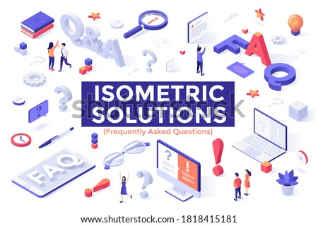 Frequently asked questions - modern isometric vector web banner Stock photo © Decorwithme