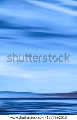 Abstract oceaan muur lange blootstelling Stockfoto © Anneleven