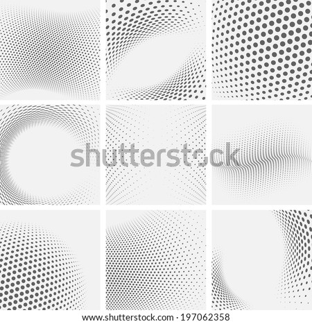 Halftone Pattern. Set of Dots. Dotted Texture. Overlay Grunge Template. Distress Linear Design. Fade Stock photo © Valeo5