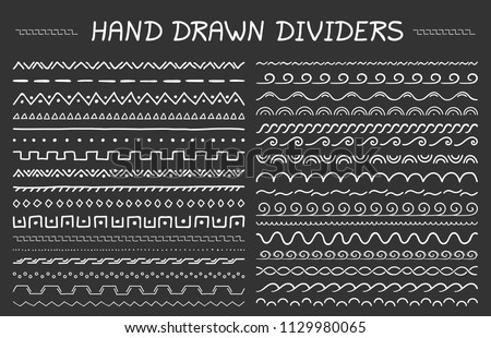 Hand drawn pattern with wave, curl and triangle. Stock photo © ShustrikS