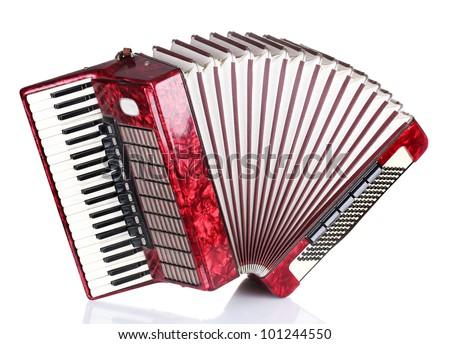 Musical toetsenbord instrument geïsoleerd afbeelding accordeon Stockfoto © designer_things