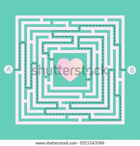 Iki karmaşık kalp şekli kırmızı yol çözümler Stok fotoğraf © evgeny89